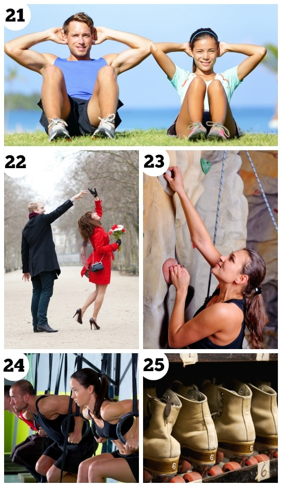 Indoor dates for a couple workout