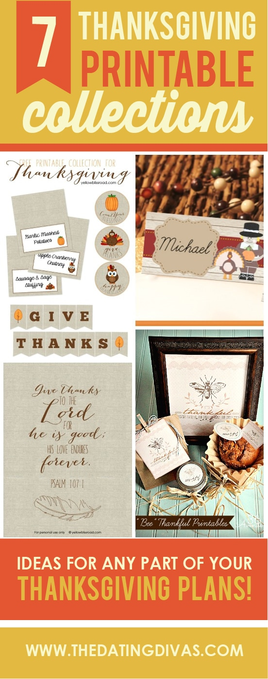 7 Amazing Thanksgiving Printable collections