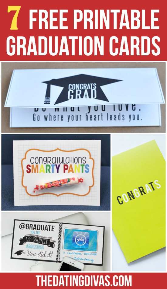 7 Free Printable Graduation Cards