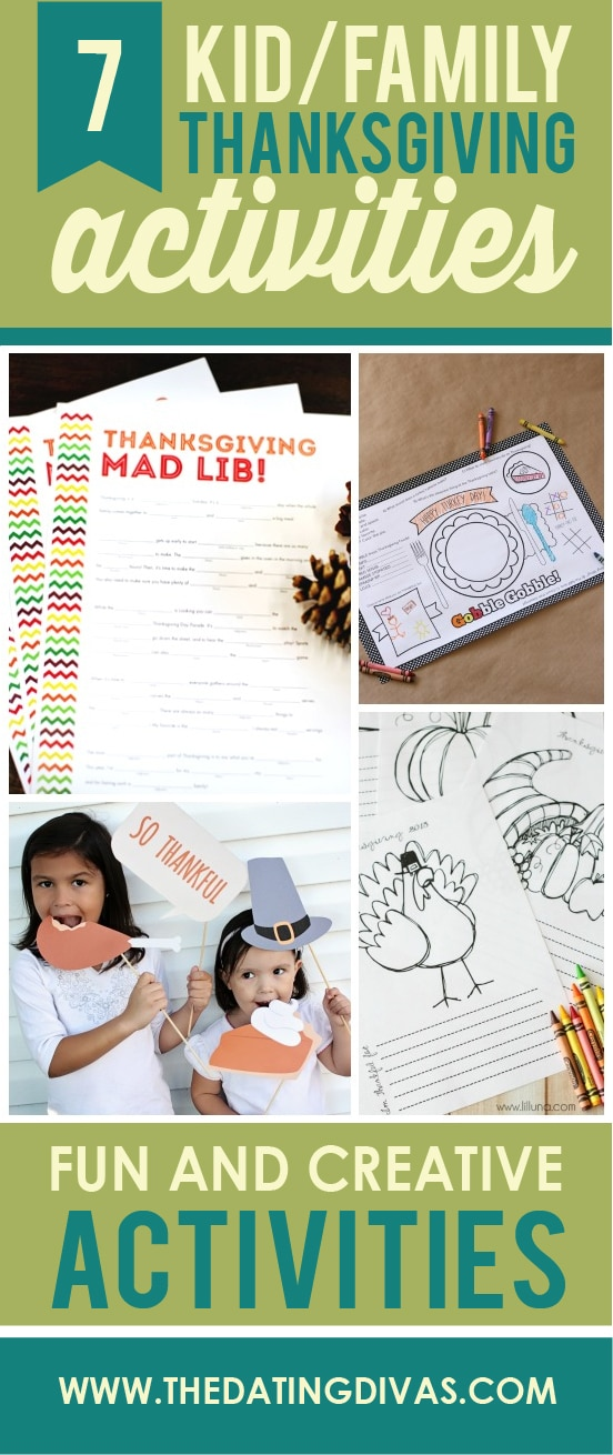 7 kid & family thanksgiving activities