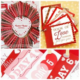 valentines ideas for husband collage with a red clothespin wreath