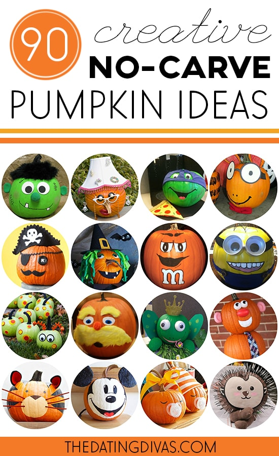 90 Creative No Carve Pumpkin Ideas