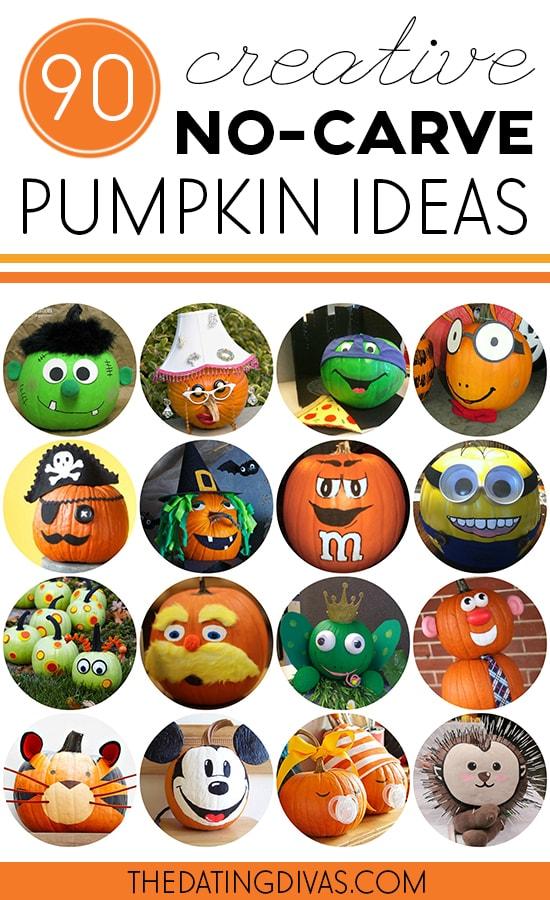 90 Creative No Carve Pumpkin Ideas