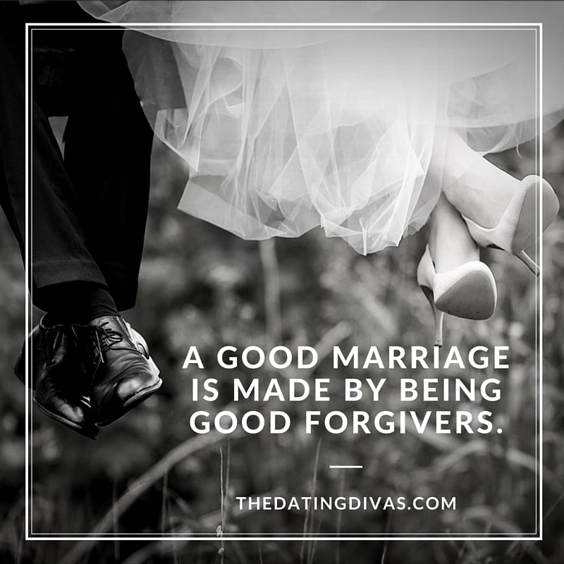 A Good Marriage is Made of Good Forgivers