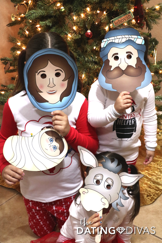 Act out the nativity story on Christmas Eve with free printable masks
