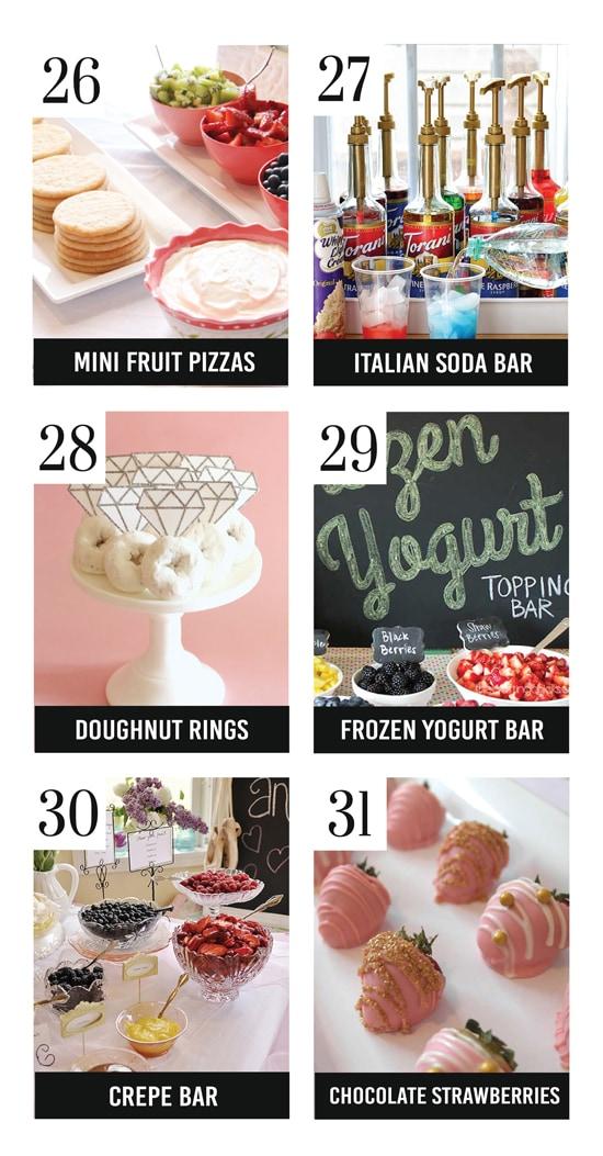 adorable bridal shower food ideas