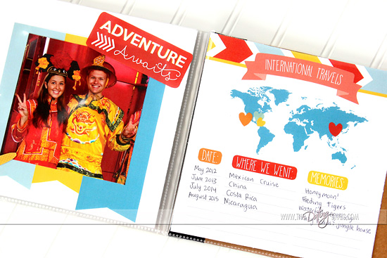 Our Adventure Book Travel Pages