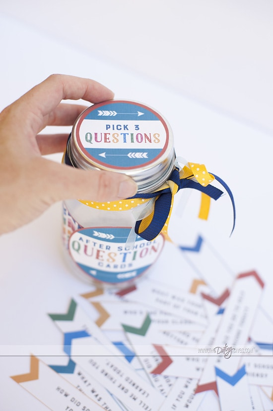 FREE Printables for an After School Questions Jar