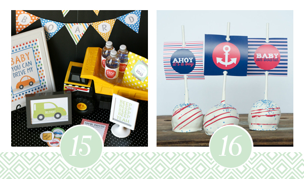 Ahoy It's A Boy Baby Shower Themed Printable Pack
