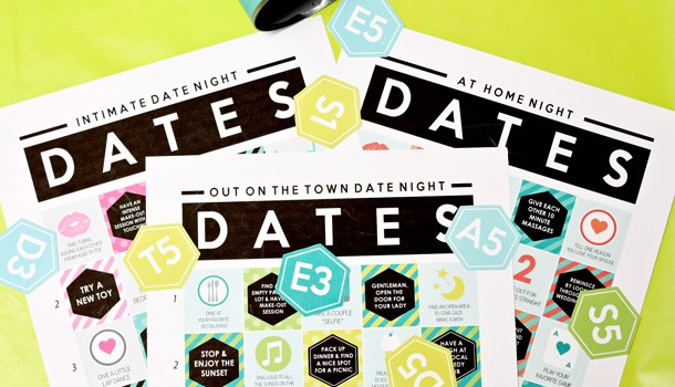 Play Date Night Bingo To Figure Out Your Dates!