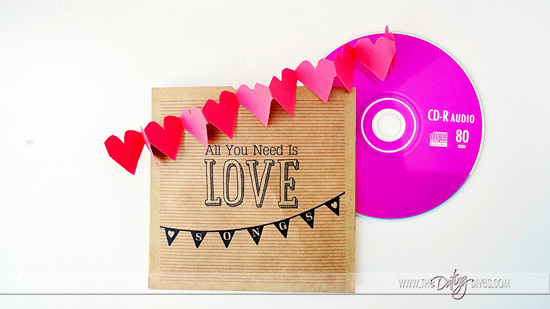 PERFECT last minute Valentine's gift - Cover for a mixed CD! www.TheDatingDivas.com