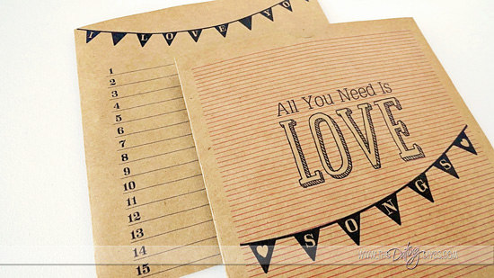 Playlist of fun, upbeat LOVE songs to sing to your spouse, plus free printable CD covers!
