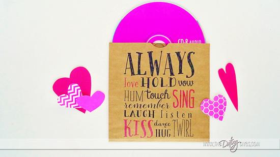 photo regarding Printable Cd Sleeves identified as Valentines Put together CD Printables