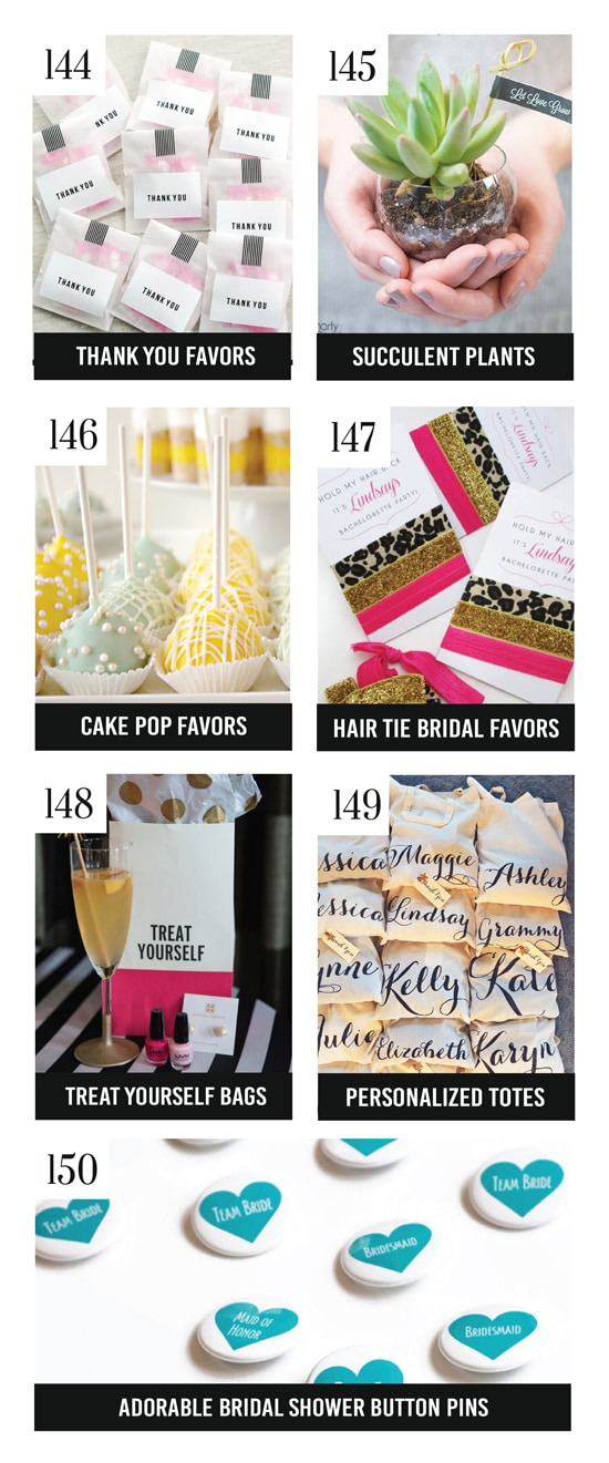 Cute Bridal Shower Party Favors