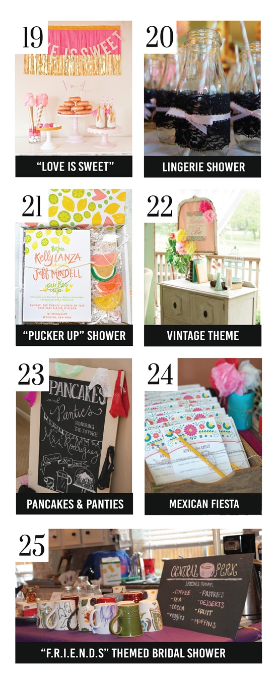 Amazing Bridal Shower Themes and Bridal Shower Ideas