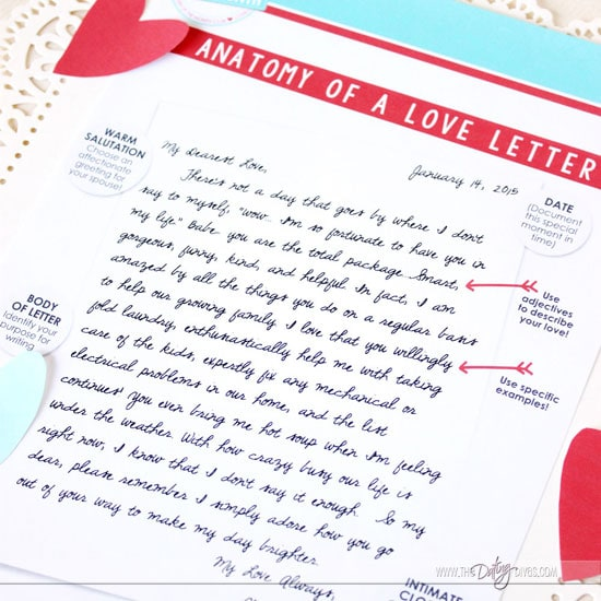 Anatomy of a Great Love Letter