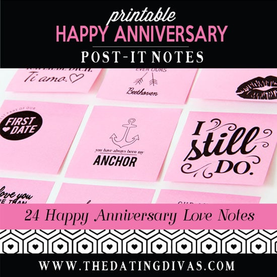 Anniversary Post-It Love Notes