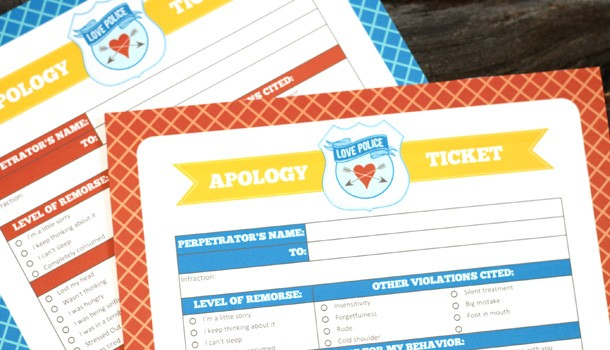 Apology Ticket: Fun Ways To Apologize