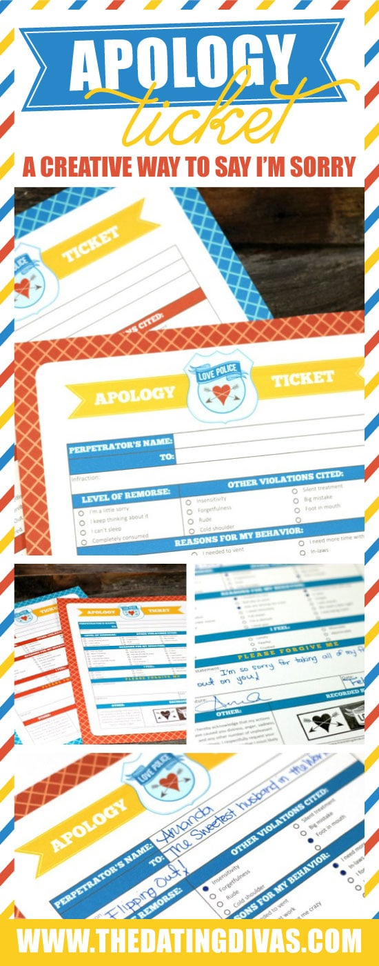 Apology Ticket Printables