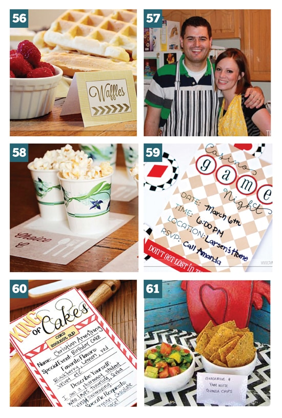 Group Date Ideas Hosted at Home (Free Printables Included)