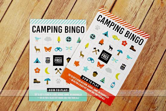 Babysitter in a Bag Camping Bingo