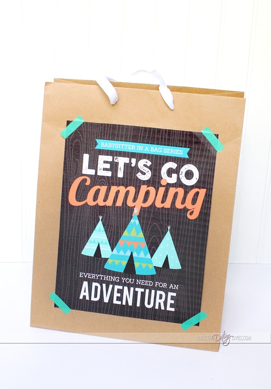 Babysitter Bag Camping Activities For Kids