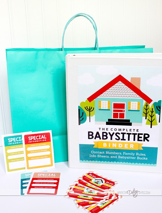 Babysitter Information Sheet Printable Binder Kit