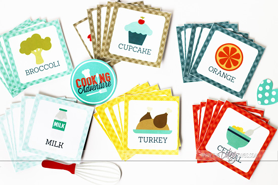 Cooking With Kids Kit Food Card Game