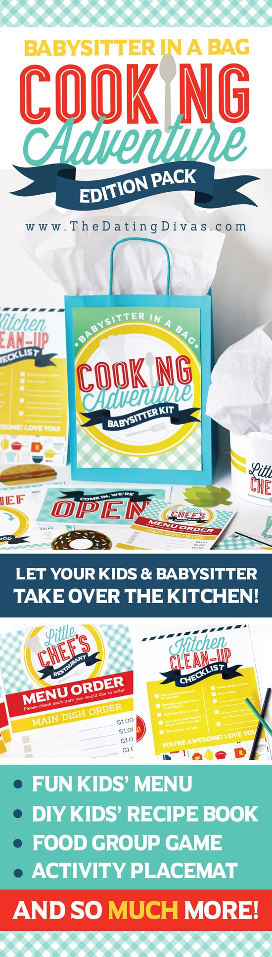 Cooking with kids kit to have fun in the kitchen with your kiddos! #TheDatingDivas #CookingWithKids