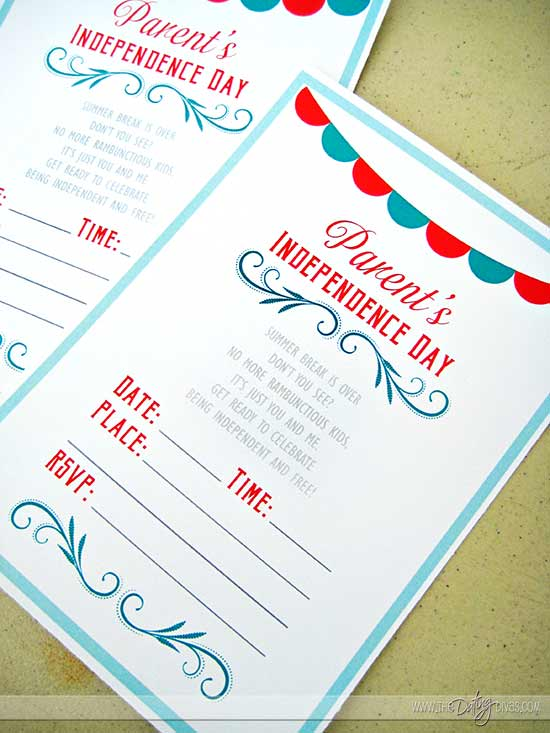 Back To School Party Printable Invite