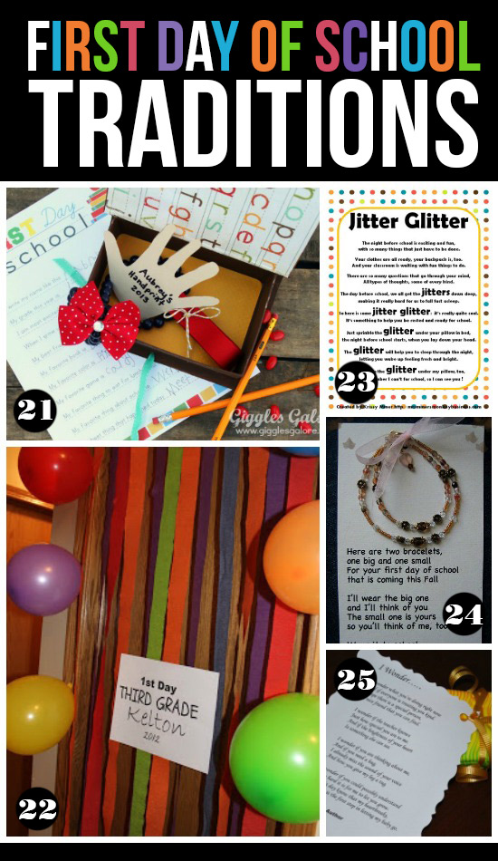 image about Jitter Glitter Poem Printable titled 25 Entertaining Very first Working day of College Traditions PushUP24