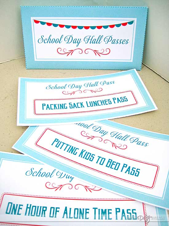 Back to School Party Printable Coupons