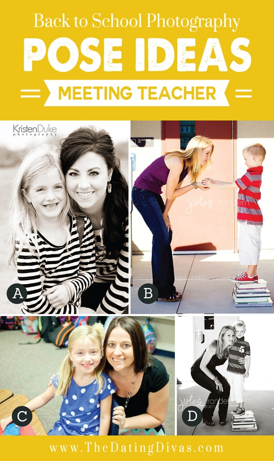 Back to School Photography Pose Ideas Meeting Teacher