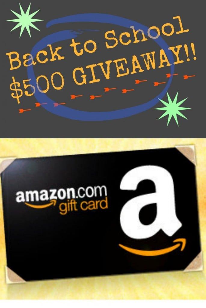 Win a $500 Amazon gift card!