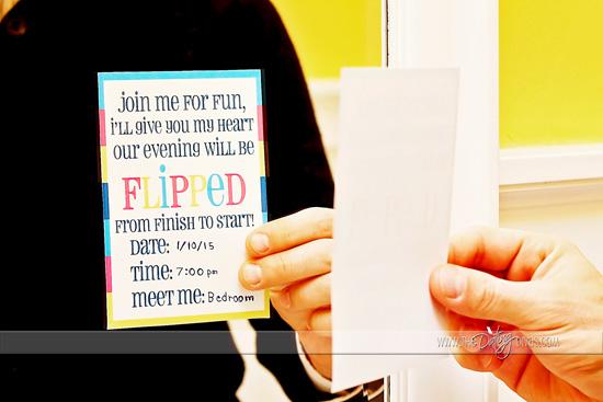 Backwards Date Night Printable Invite