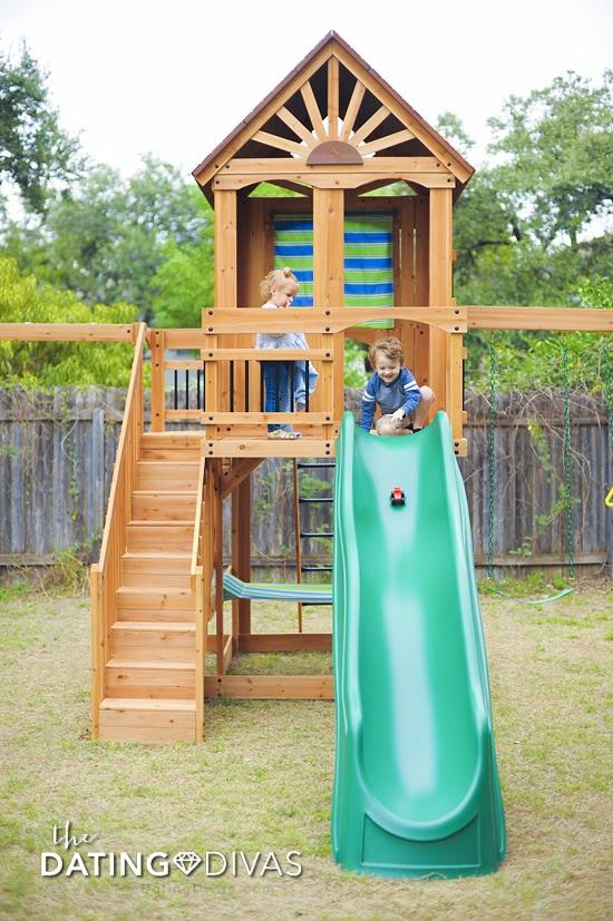 Backyard Swing Set Slide