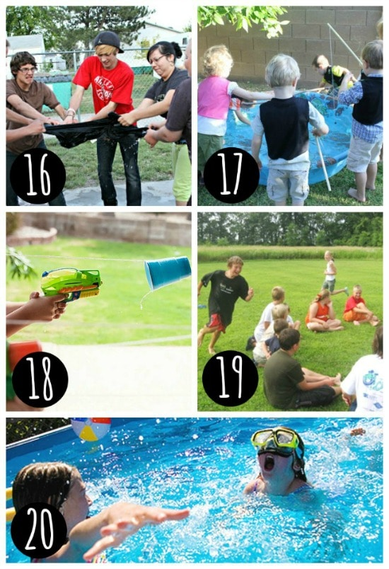 backyard water games for