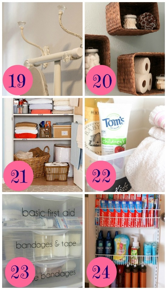 12 Ways to Organize your Bathroom