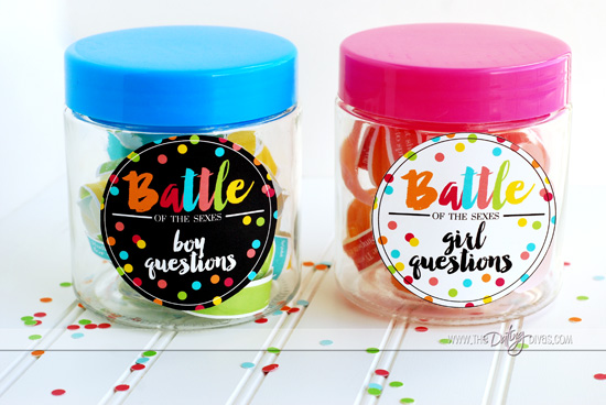 Battle of the Sexes Question Jars