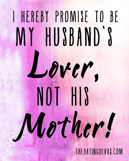 Be Your Husband's Lover, NOT his Mother