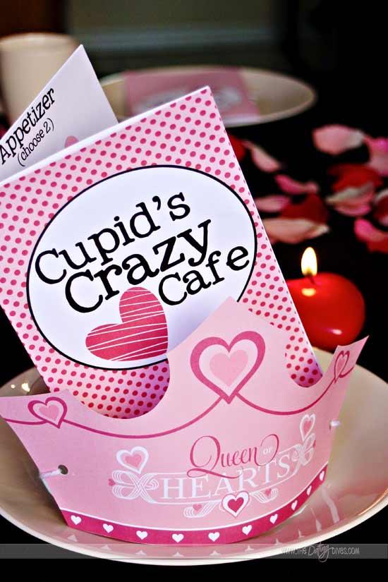 Cupid 39 s crazy cafe a family v day dinner for Valentines dinner for kids