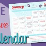 Free January LOVE Calendar
