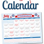Free Printable July LOVE Calendar