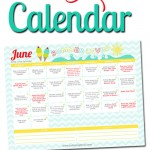 Free June LOVE Calendar