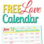 Free June LOVE Calendar