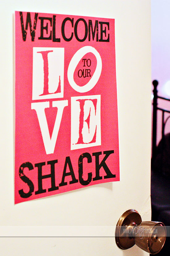 Love Shack Romantic Sign