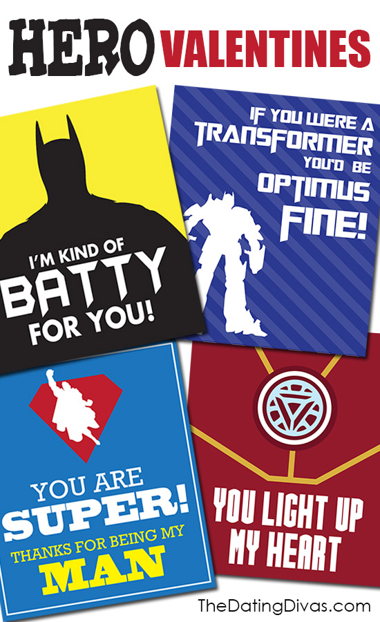 Superhero Valentines Card