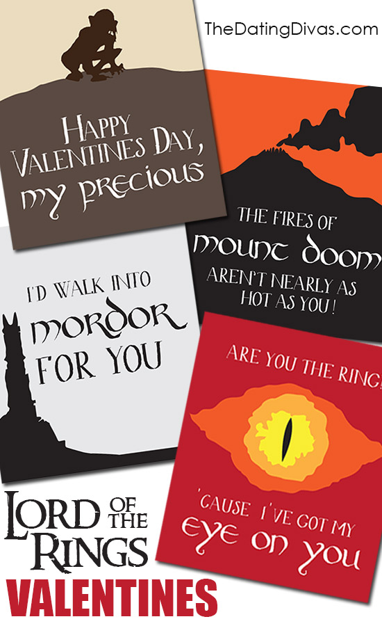 Lord of the Rings Valentines Cards