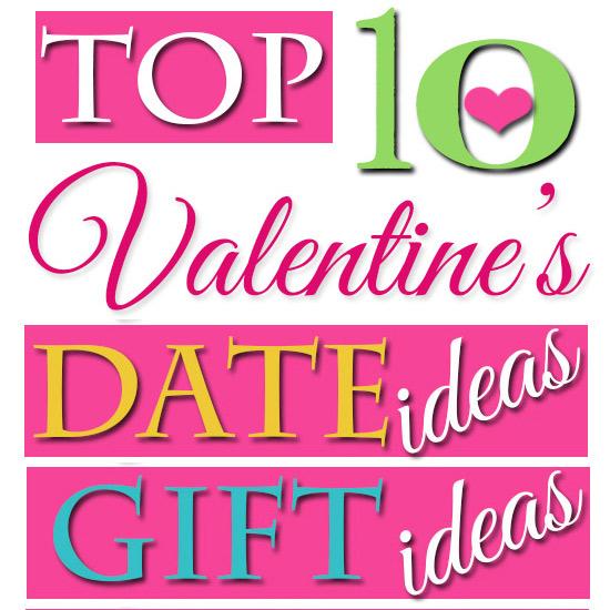 Top 10 Valentines day idea banner