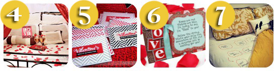 collage with 4 valentines date ideas